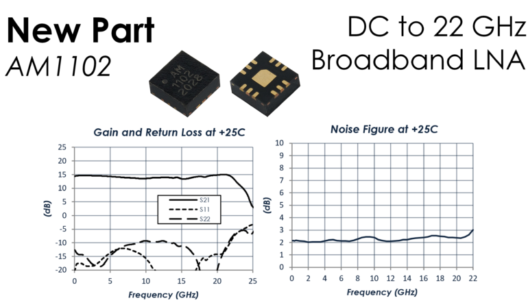 New DC to 22 GHz Broadband LNA